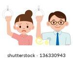women make a face to smell | Shutterstock . vector #136330943