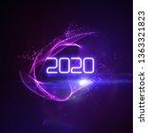happy new 2020 year. futuristic ... | Shutterstock .eps vector #1363321823