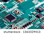 electronic circuit board close... | Shutterstock . vector #1363329413