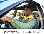 side portrait of happy african... | Shutterstock . vector #1363330130