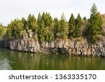 rocks and forest at high... | Shutterstock . vector #1363335170