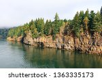 rocks and forest at high... | Shutterstock . vector #1363335173