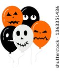 isolated halloween icons | Shutterstock .eps vector #1363351436