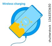 smartphone charging on a... | Shutterstock .eps vector #1363353650