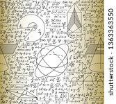 scientific math vector seamless ... | Shutterstock .eps vector #1363363550