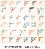 34 design elements | Shutterstock .eps vector #136337033
