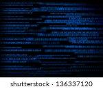technology binary background | Shutterstock . vector #136337120
