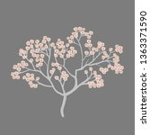 spring card with cherry blossom ...   Shutterstock .eps vector #1363371590