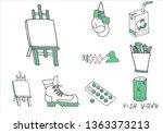 set of school equipment doodle...   Shutterstock .eps vector #1363373213