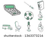 set of school equipment doodle...   Shutterstock .eps vector #1363373216