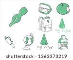 set of school equipment doodle...   Shutterstock .eps vector #1363373219