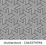 abstract geometric pattern with ... | Shutterstock .eps vector #1363374596