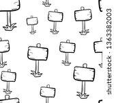 beautiful hand drawn seamless... | Shutterstock .eps vector #1363382003