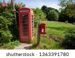 English Red Phone Box And Post...