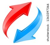 red and blue arrows set.... | Shutterstock . vector #1363397366