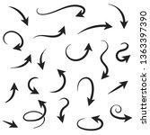 arrows. hand written filigree...   Shutterstock . vector #1363397390