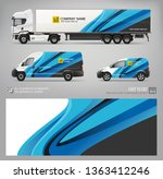 wrap decal for van  truck... | Shutterstock .eps vector #1363412246