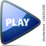 Play button - stock photo