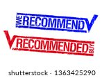 we recommend  recommended buy... | Shutterstock .eps vector #1363425290