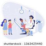 medicine dental concept.... | Shutterstock .eps vector #1363425440