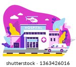 medical concept with hospital... | Shutterstock .eps vector #1363426016