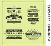 set of wedding stamps | Shutterstock . vector #136342868