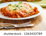 home made italian baked cheese... | Shutterstock . vector #1363433789