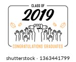 graduation day. class of 2019... | Shutterstock .eps vector #1363441799