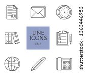 business icons set. business... | Shutterstock . vector #1363446953