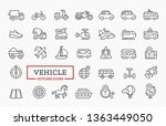 Vehicle Icons. Vector Line...