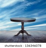 Antique Table Table On The...