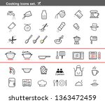 cooking preparation icon set.... | Shutterstock .eps vector #1363472459