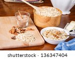 ingredients on a table to... | Shutterstock . vector #136347404