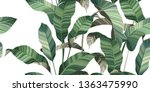 tropical floral pattern of palm ...   Shutterstock .eps vector #1363475990