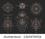 vector set of sacred geometric... | Shutterstock .eps vector #1363476926
