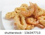 Plate Of Fried Fish  Closeup O...
