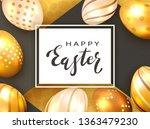 black lettering happy easter on ...   Shutterstock . vector #1363479230