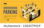 underground parking service...   Shutterstock .eps vector #1363479419