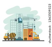 building construction tools | Shutterstock .eps vector #1363509323