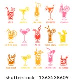 beverages drinks silhouettes... | Shutterstock .eps vector #1363538609