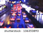 blur trffic and car lights... | Shutterstock . vector #136353893