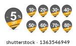 discount pointer set. set of... | Shutterstock .eps vector #1363546949