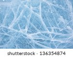 Texture Of Ice Of Baikal Lake...