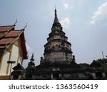 architecture in thai temples ... | Shutterstock . vector #1363560419