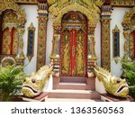 architecture in thai temples ... | Shutterstock . vector #1363560563