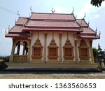architecture in thai temples ... | Shutterstock . vector #1363560653