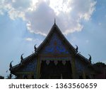 architecture in thai temples ... | Shutterstock . vector #1363560659