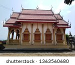 architecture in thai temples ... | Shutterstock . vector #1363560680