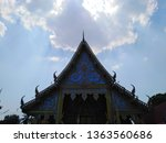 architecture in thai temples ... | Shutterstock . vector #1363560686