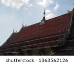 architecture in thai temples ... | Shutterstock . vector #1363562126